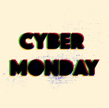 Vector abstract futuristic colorful science technology commerce market advertising holiday cyber monday lettering pattern
