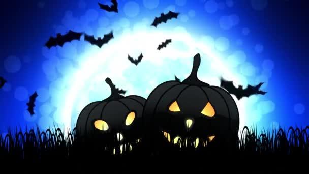 Halloween sütőtök, kék háttér