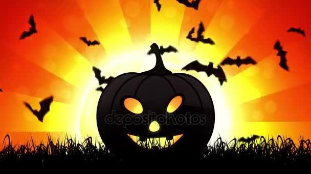 Halloween tök narancssárga háttérben