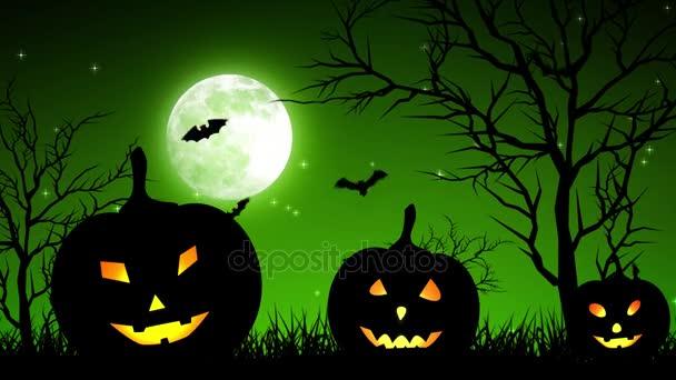 Halloween Pumpkings a Hold világos zöld