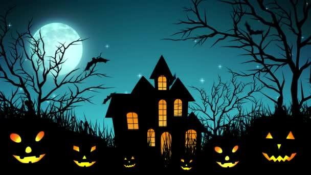Halloween-kastély az erdőben, a cián