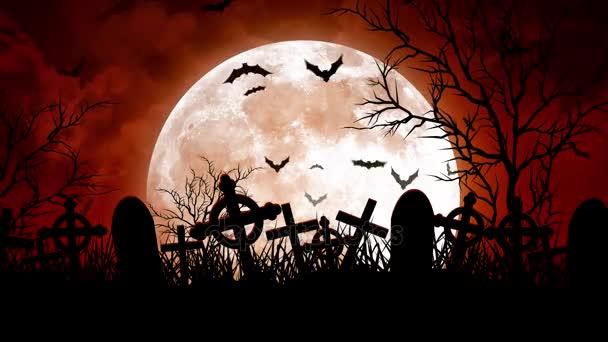 Měsíc nad hřbitov v červánky