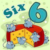 A szám hat illusztráció