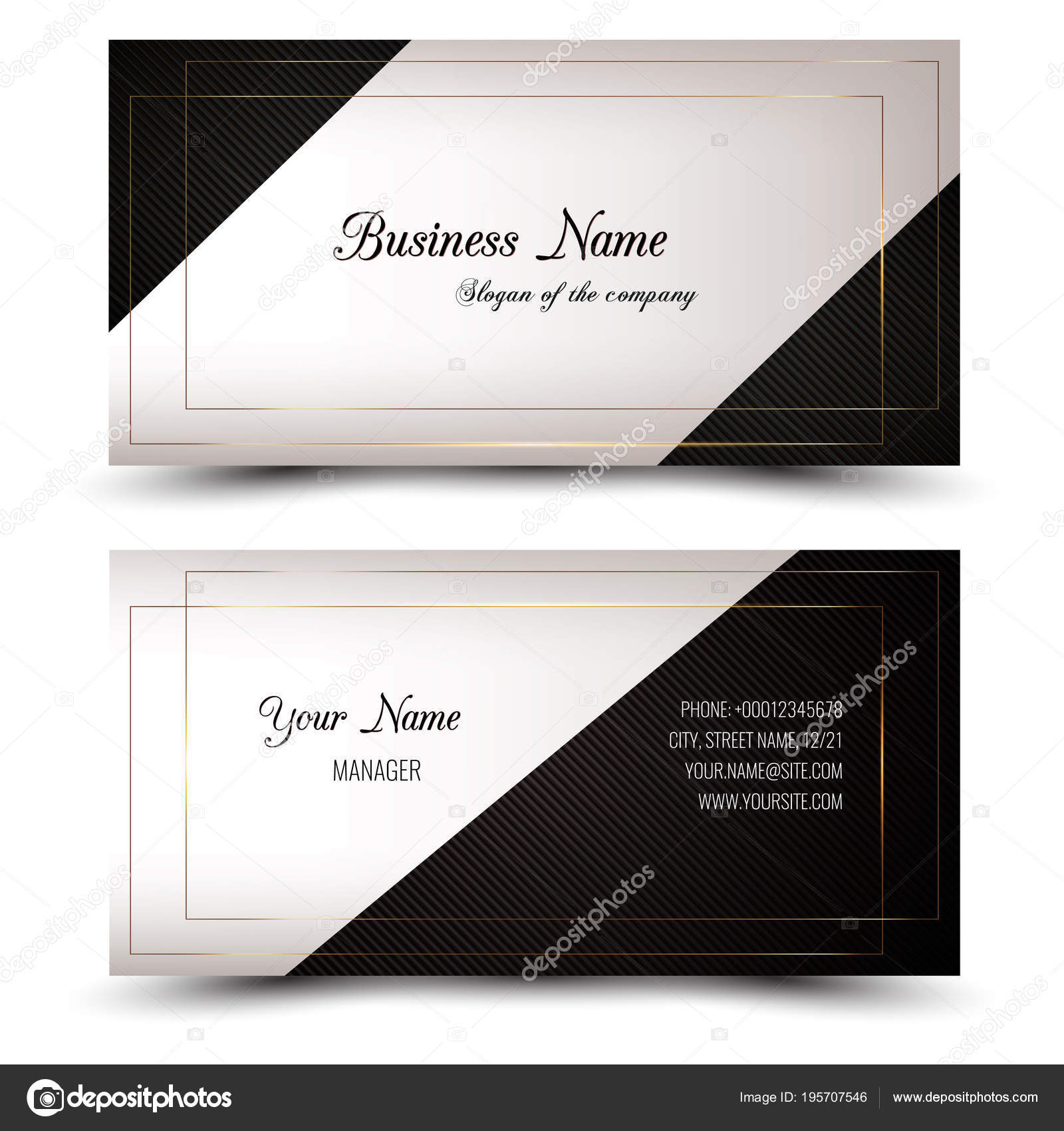Elegant vector business card name card horizontal simple clean elegant vector business card name card horizontal simple clean template stock vector reheart Gallery