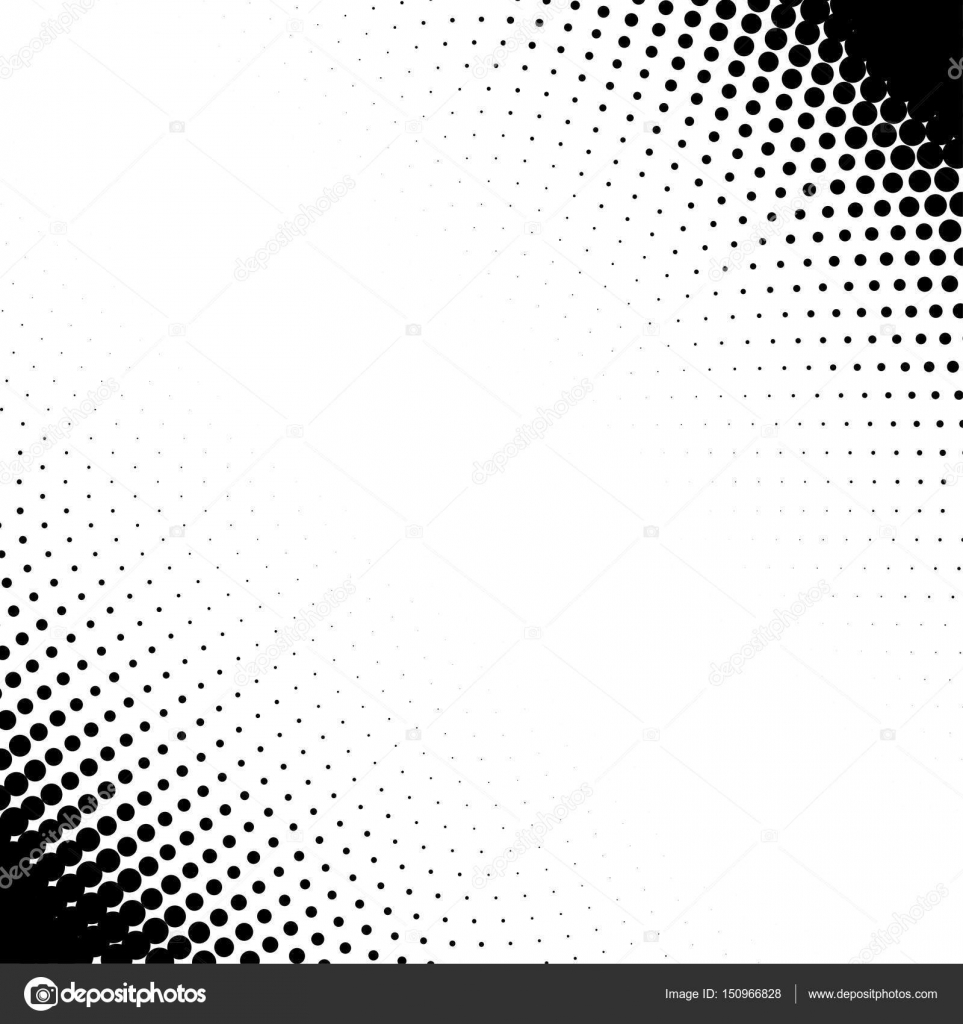Vector corner design elements with halftone effect  Isolated