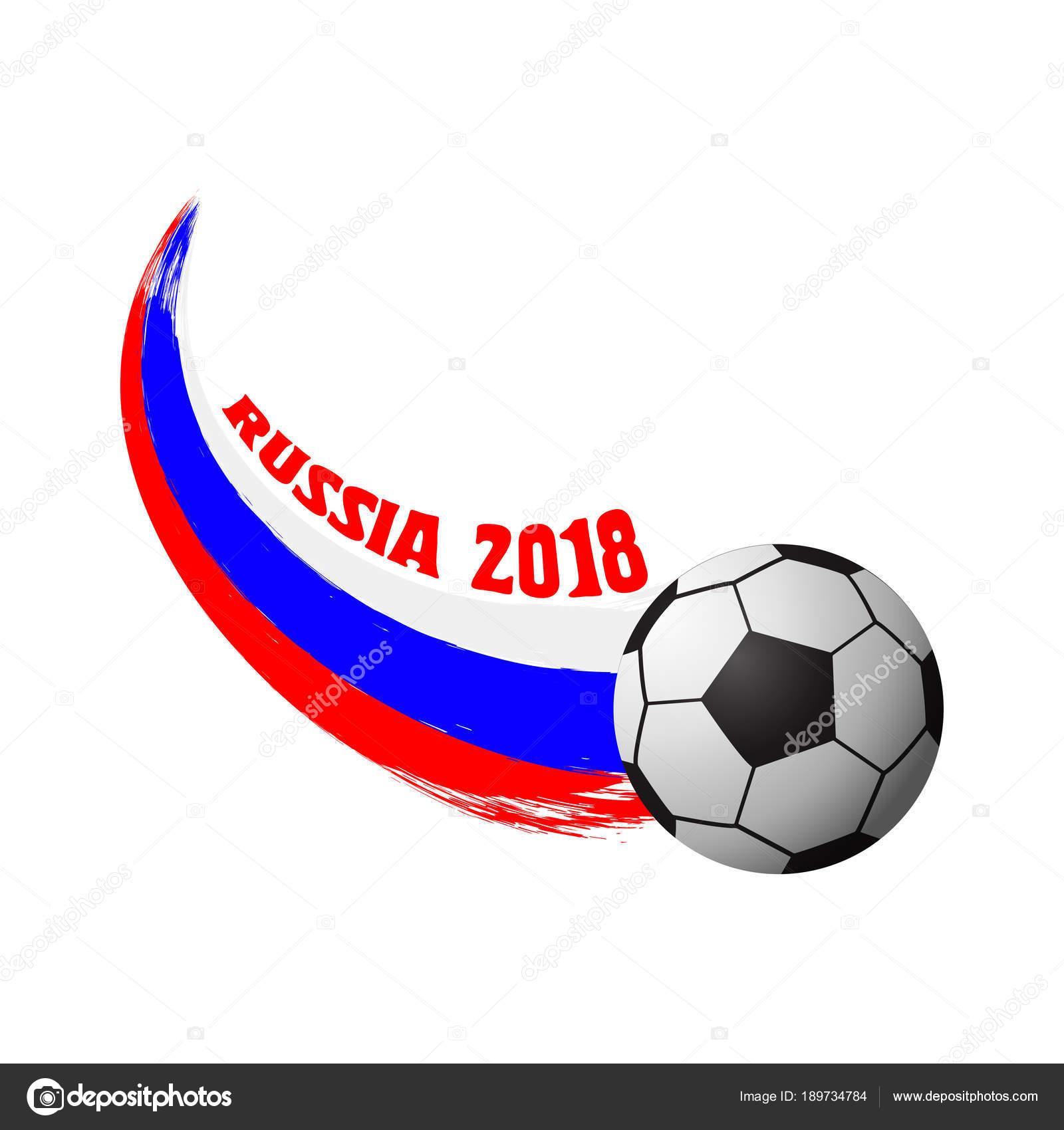 Vektor-Design für die Fußball-Weltmeisterschaft 2018. Fußball ...