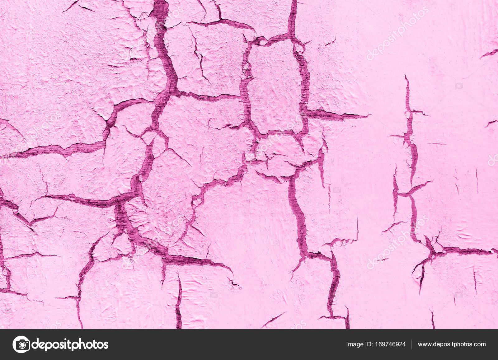 Alte Beschädigte Geknackt Farbe, Grunge Hintergrund Rosa Pastell Wandfarbe  U2014 Stockfoto