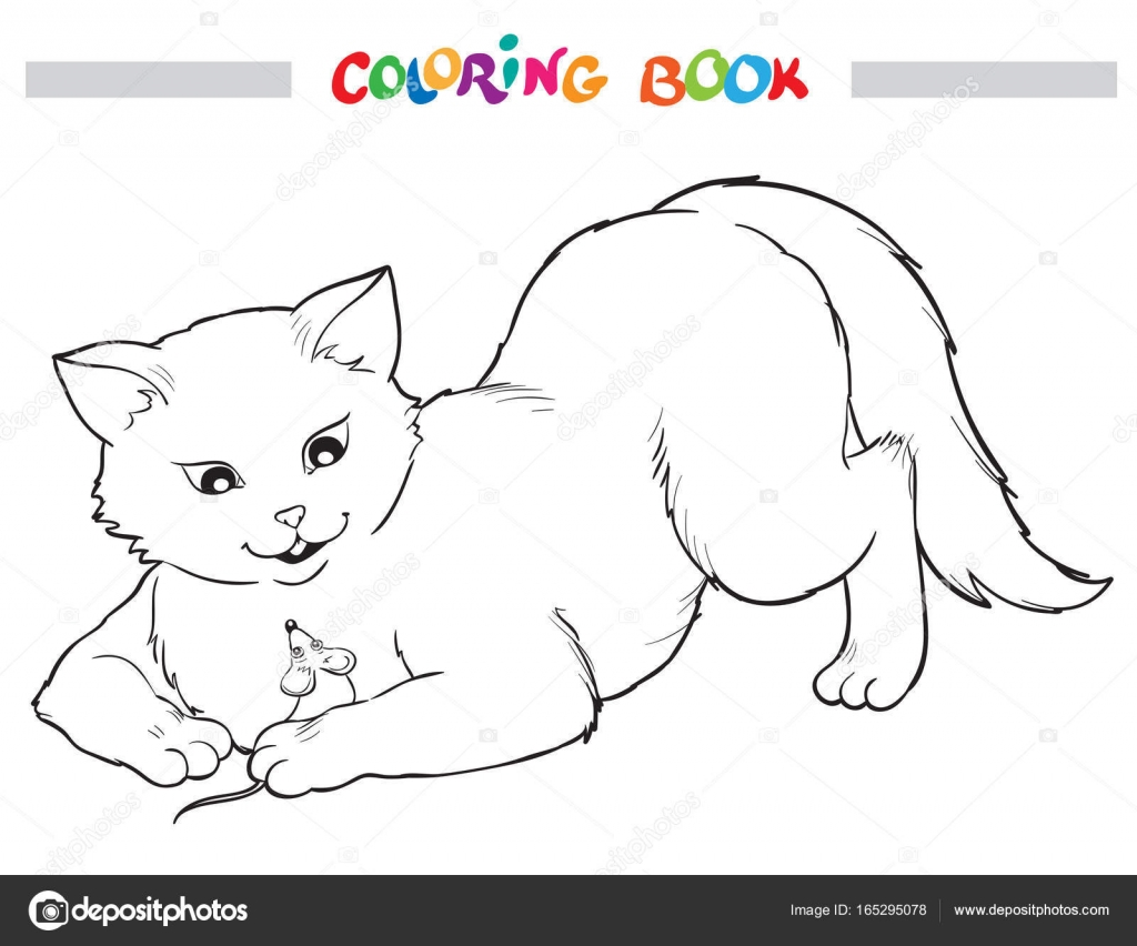 Coloring Book Cat And Mouse Stock Vector C Linaflerova 165295078