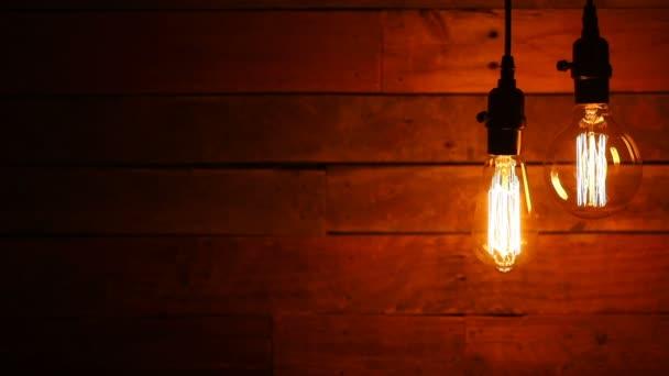 Městské Retro závěsné žárovky na pozadí
