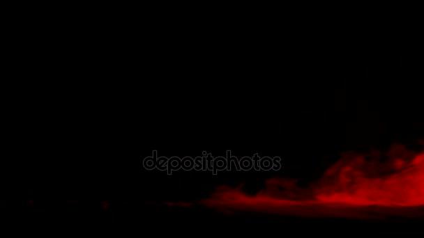 Abstraktní červená suchý led kouřové pozadí