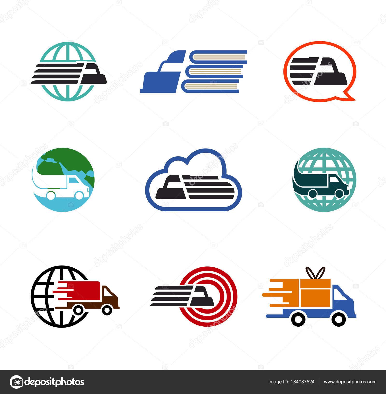 transporation symbol logo design illustration stock vector