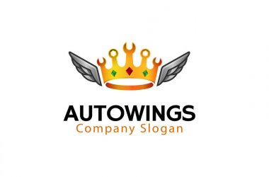 Royal Wings Logo Design Illustration