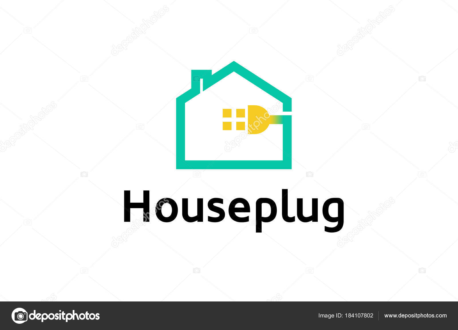 Creative House Plug Logo Design Illustration — Stock Vector © Guru86 ...