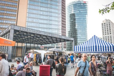 Flea market at  Potsdamer Platz in Berlin,  Germany