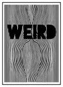 Optické vzorek s divné slovo