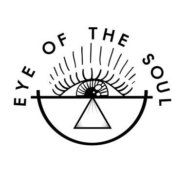 Eye of the soul lettering, print