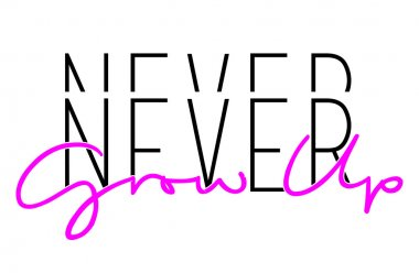 never give up slogan, text print