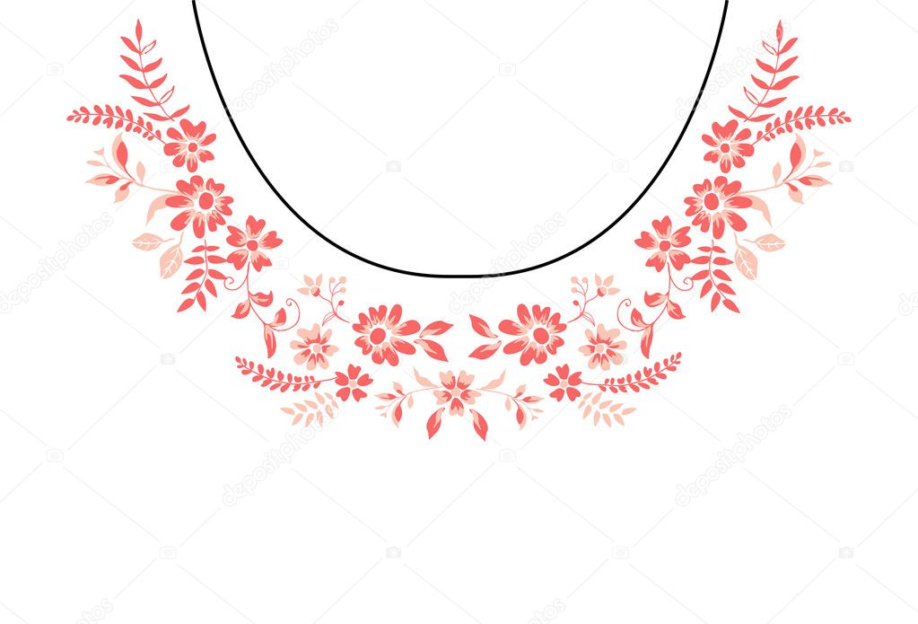Ornament Template | Ornament Vorlage Blumen Halskette Stockvektor C Workingpens 128172124