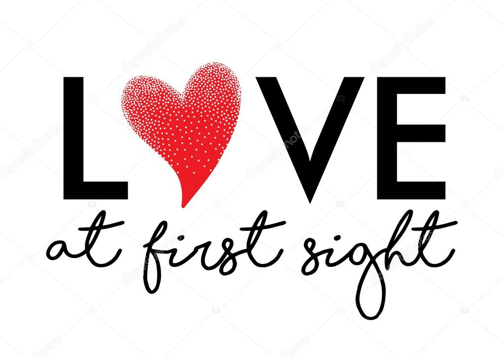 Love At First Sight Graphic Stock Vector Workingpens 128175150
