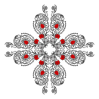Folk floral cross print