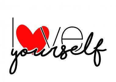 Love yourself slogan