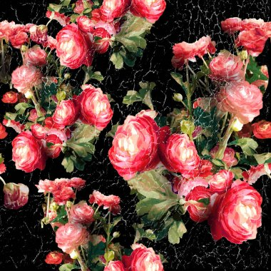 abstract roses flowers background