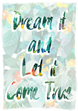 Dream inscription, quote, print