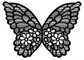 lace butterfly  ornament pattern