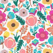 barevné abstraktní květiny vzor