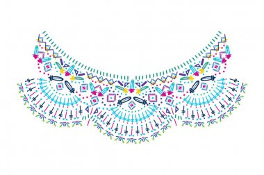 necklace ornament embroidery design