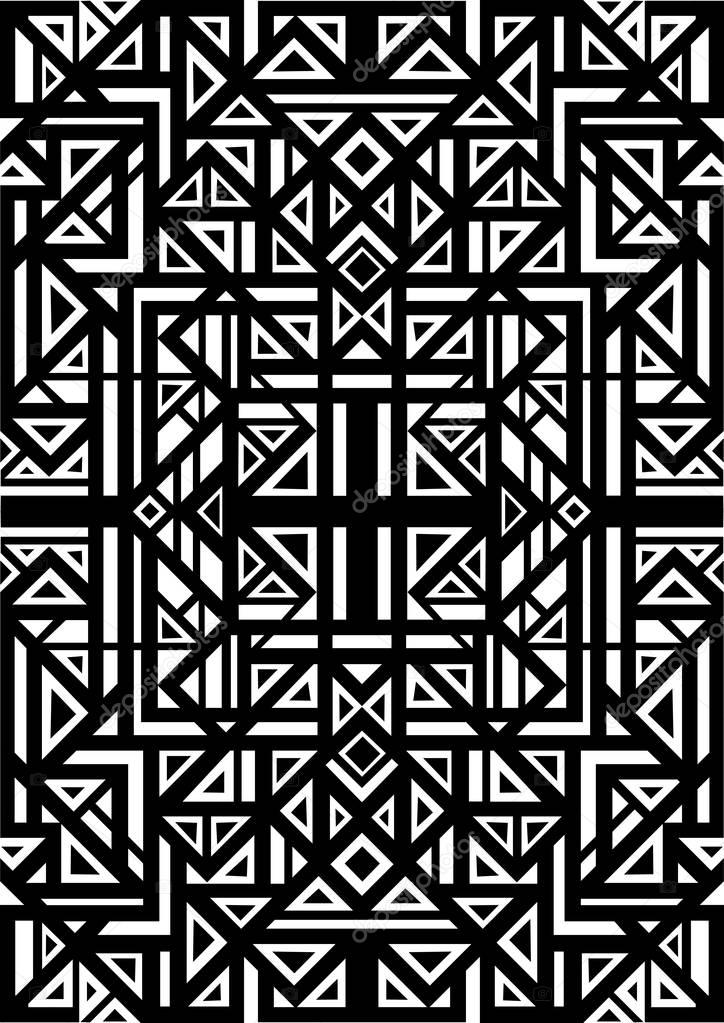 abstract tribal ethnic pattern