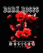 Vintage Rose nyomtatási Rock stílusban