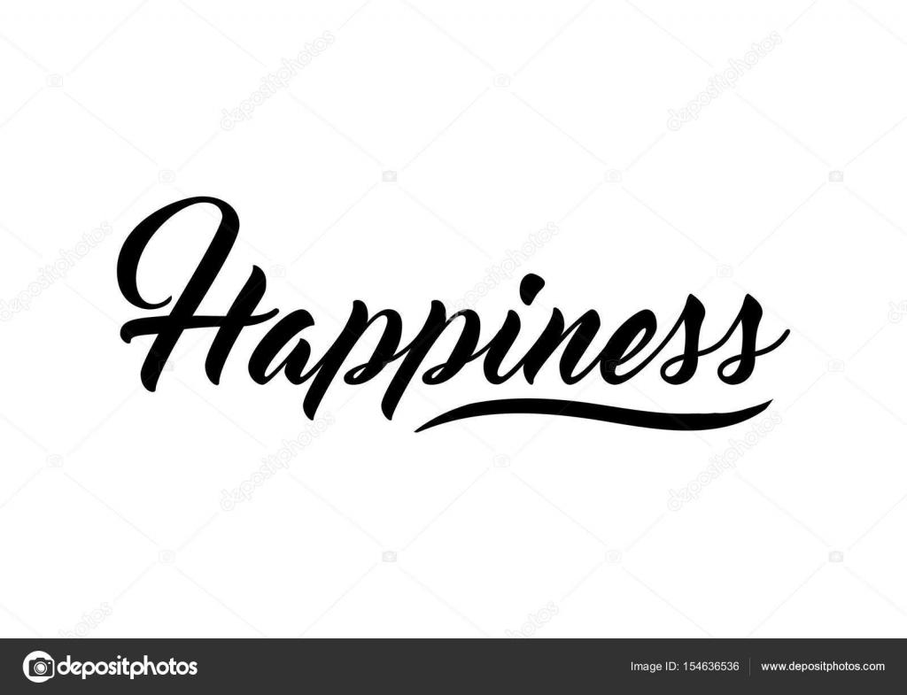 Happiness Quote Print Stock Vector Workingpens 154636536