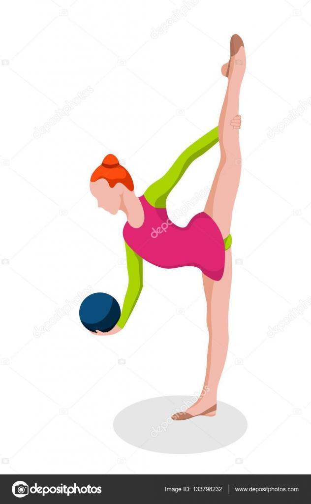 chica haciendo gimnasia r237tmica ejercicios con pelota de