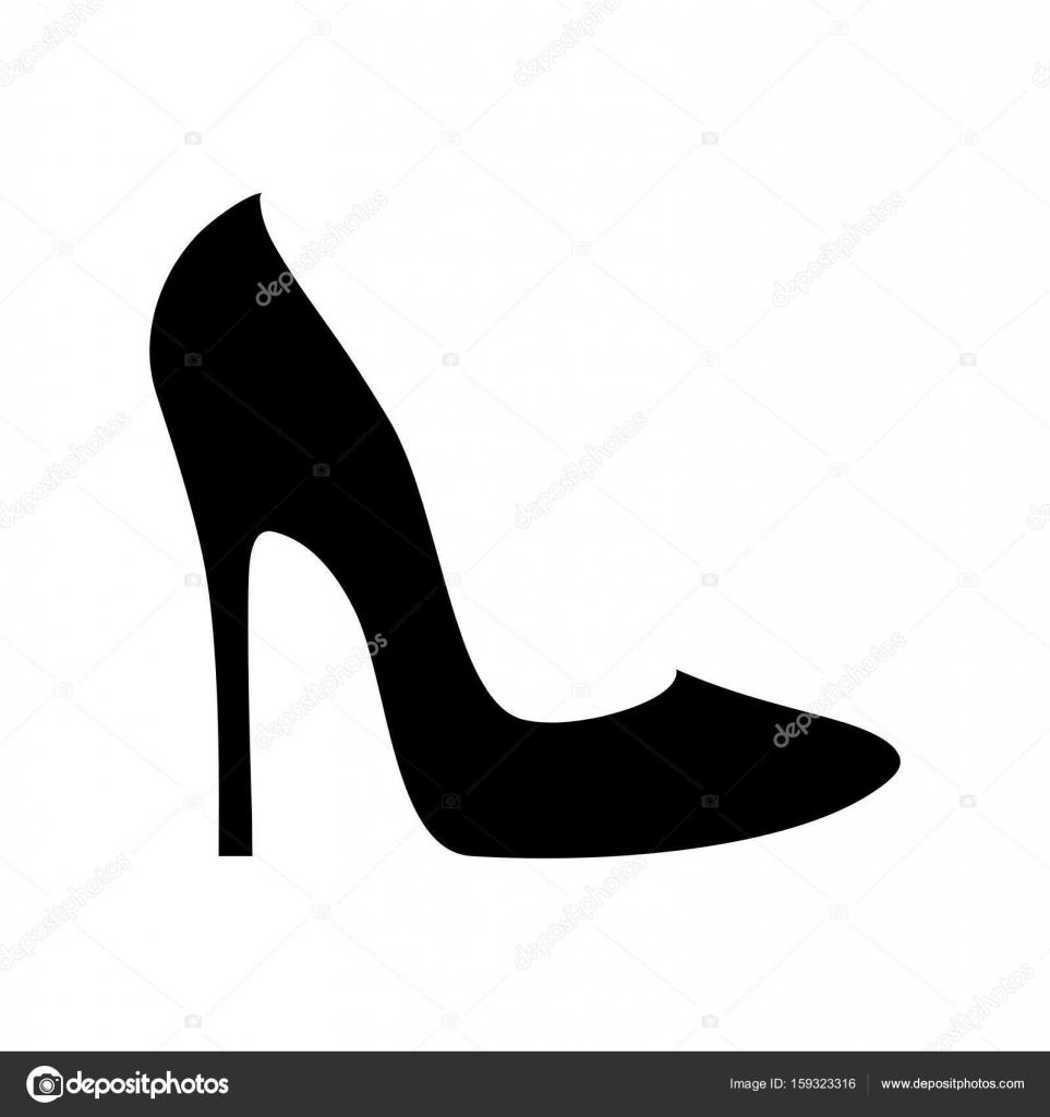 bee7da6786e Elegantní Dámské boty silhouette izolované na bílém — Stock Vektor ...