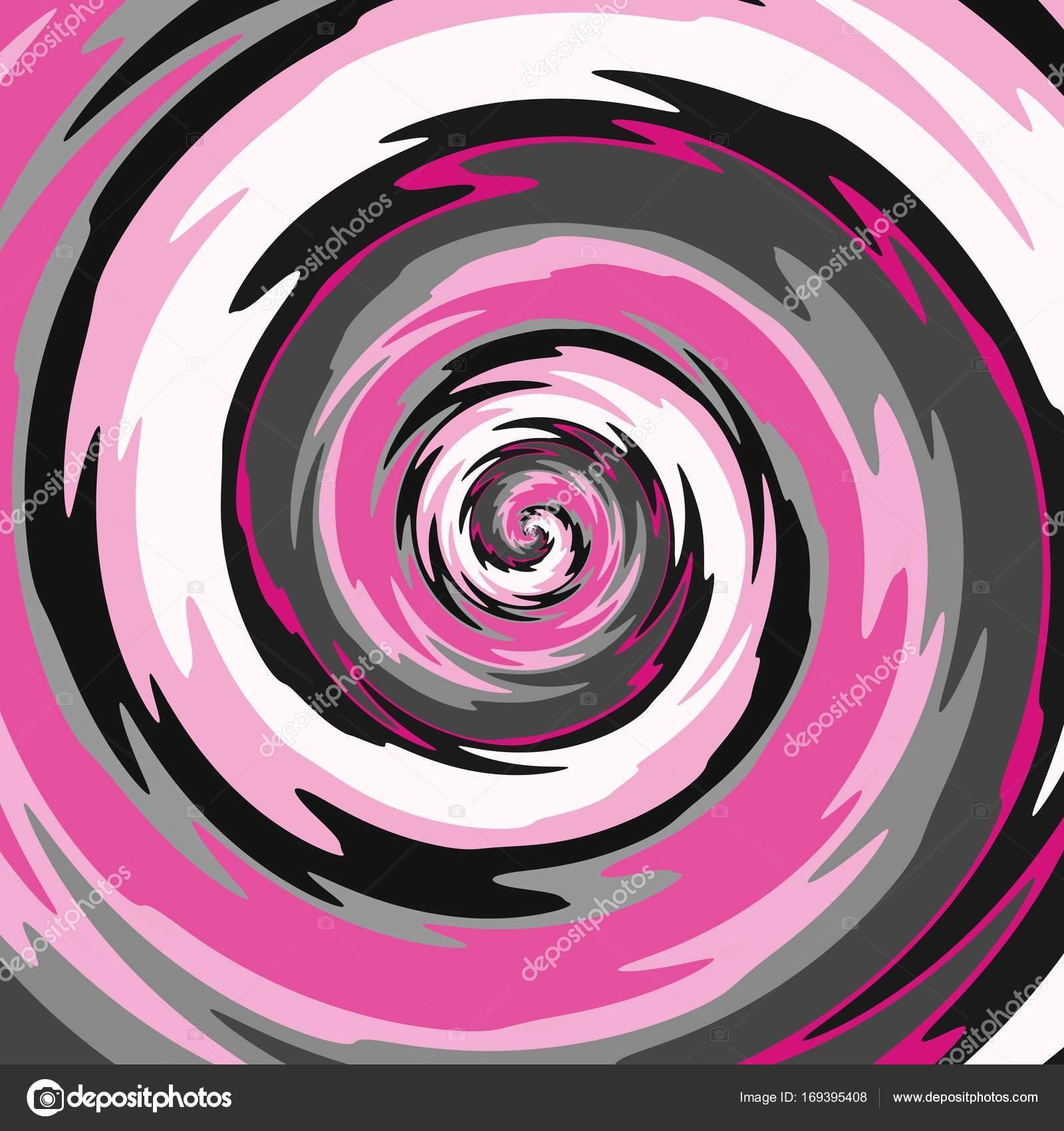 Abstrakte Spirale In Rosa, Grau, Schwarz Und Weiß Farbe Kann Als  Hintergrund Verwendet Werden U2014 Foto Von Matahiasek
