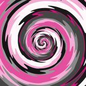 Abstraktní spirála v růžové, šedé, černé a bílé barvě