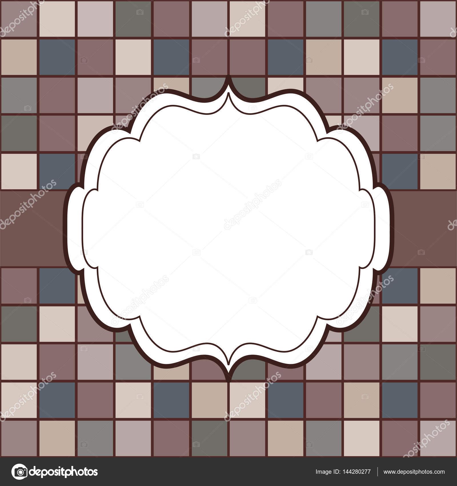 Mosaik Rahmen Platz für Text Einladung — Stockvektor © kozyrevaelena ...