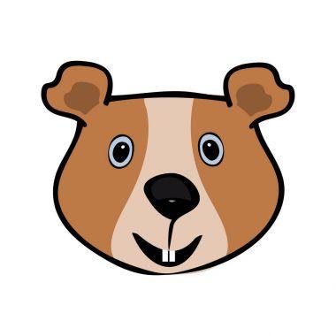 Guinea pig funny cute head pets. Vector illustration clip art vector