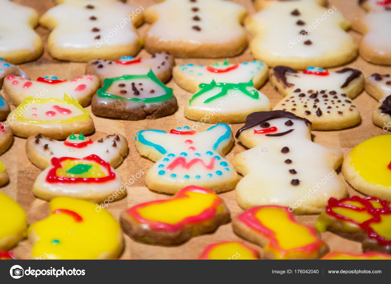 homemade christmas cookie with decoration stock photo - Homemade Christmas Cookies