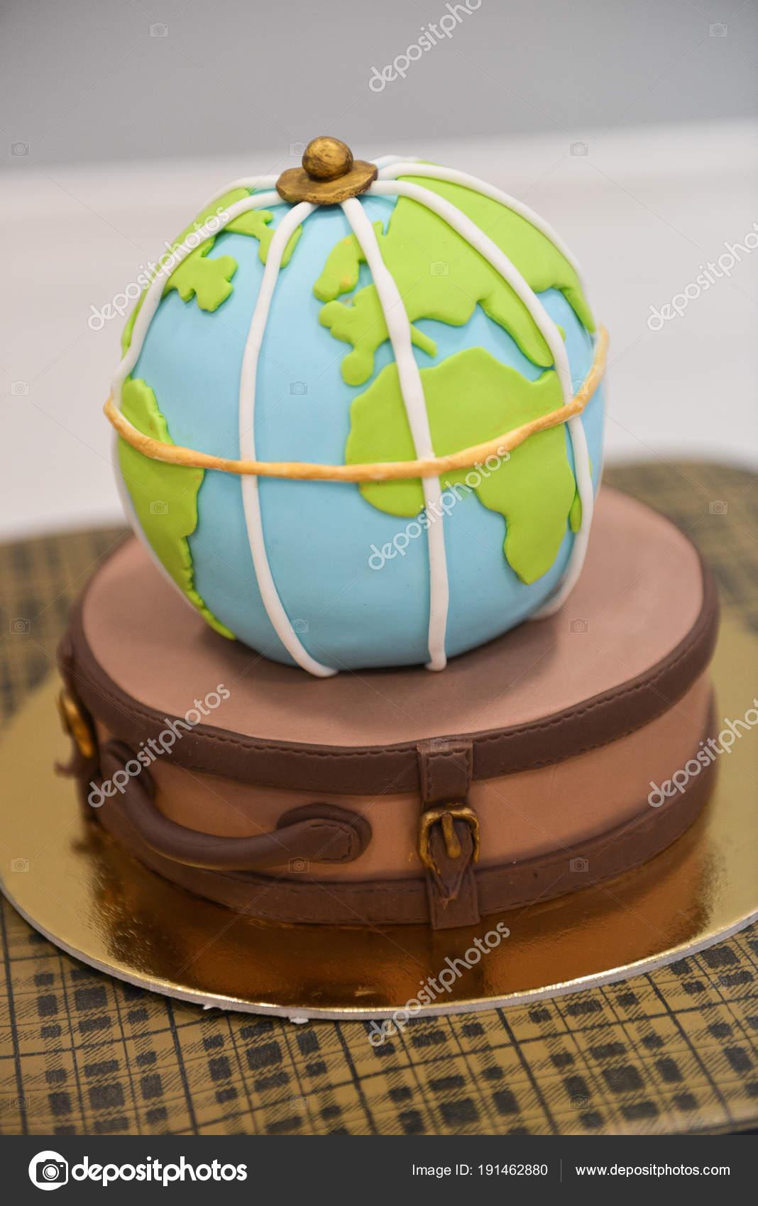 Childrens Themed Birthday Travel Smash The Cake Sweet Globe On A