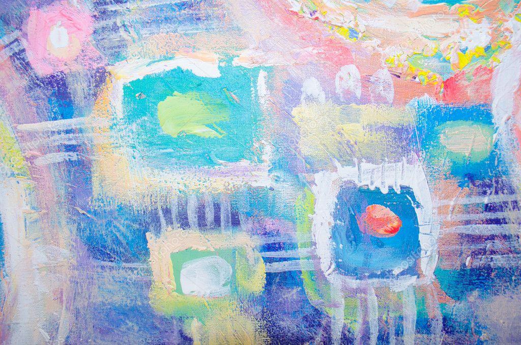 Peinture acrylique color e abstraite pays marennes oleron - Peinture abstraite coloree ...