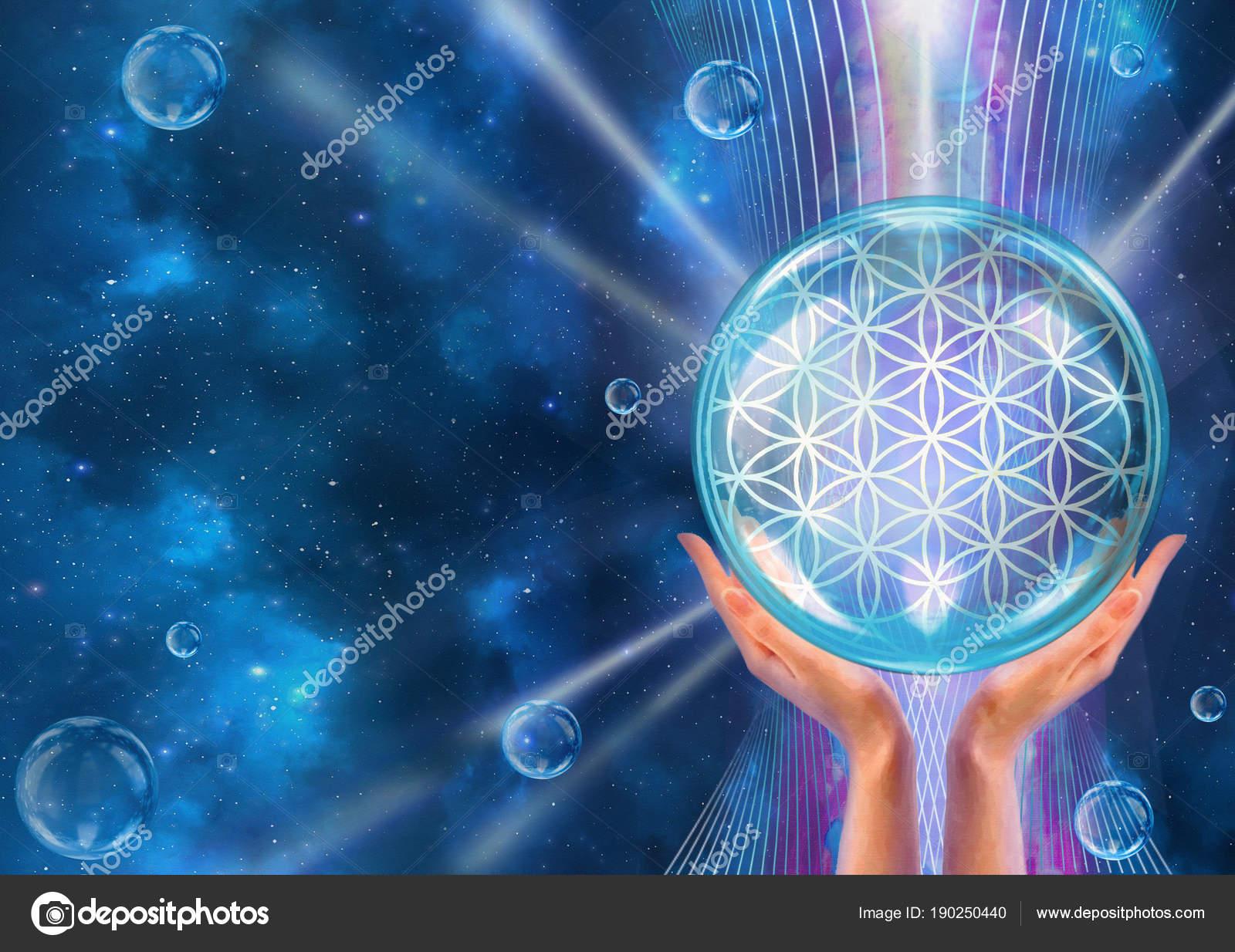 Flower Life Sacred Geometry Lotus Flower Pattern Creation Represents