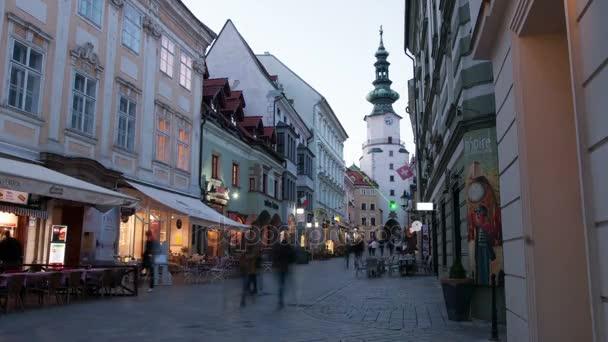 ulice ve starém městě centra v Bratislavě, Slovensko