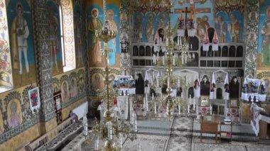 The orthodox church in Oncesti, Romania