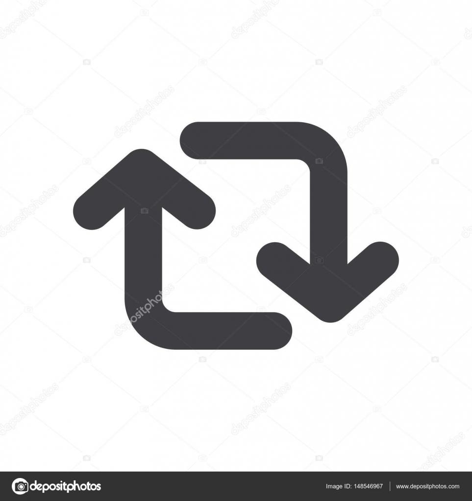 Schalter-Pfeil-Symbol-Icon-Vektor — Stockvektor © icon-mama #148546967