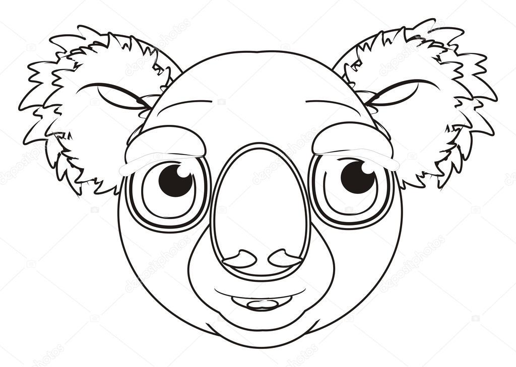 bozal para colorear del koala — Foto de stock © tatty77tatty #126330346