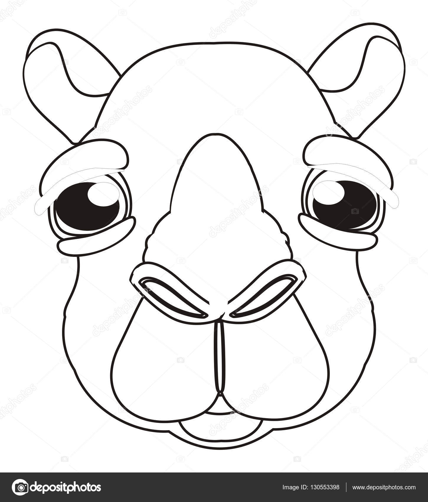 colorear la linda cara de camello — Foto de stock © tatty77tatty ...