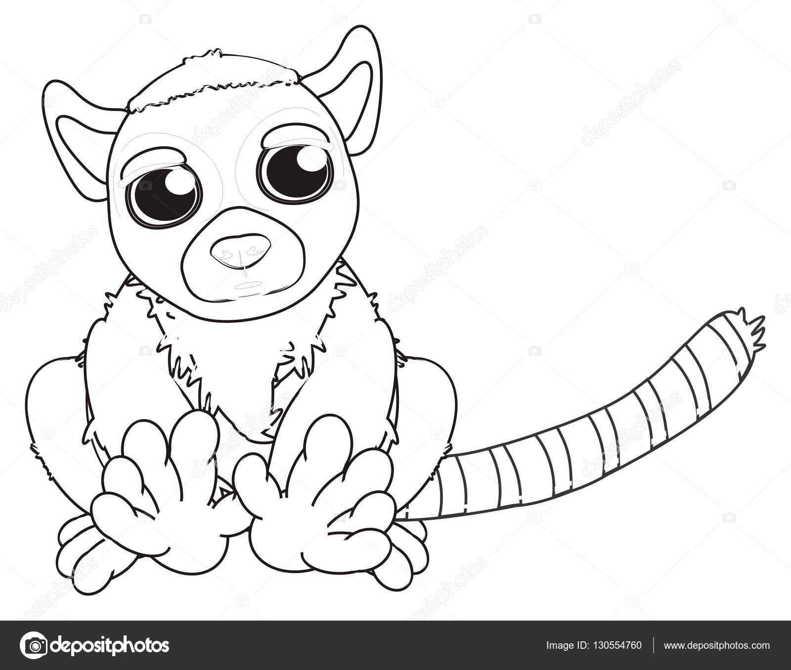 süße graue Färbung lemur — Stockfoto © tatty77tatty #130554760