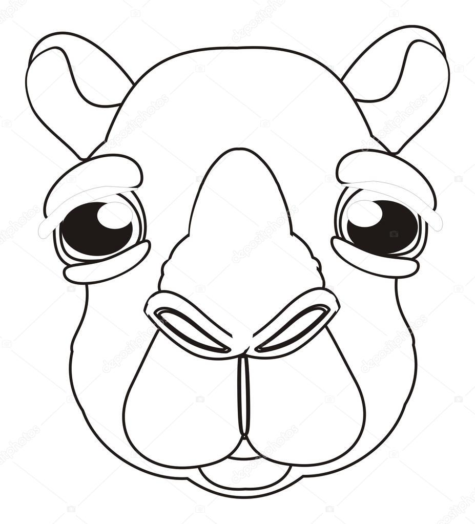 Coloring Cute Face Of Camel Stock Photo C Tatty77tatty 130553398